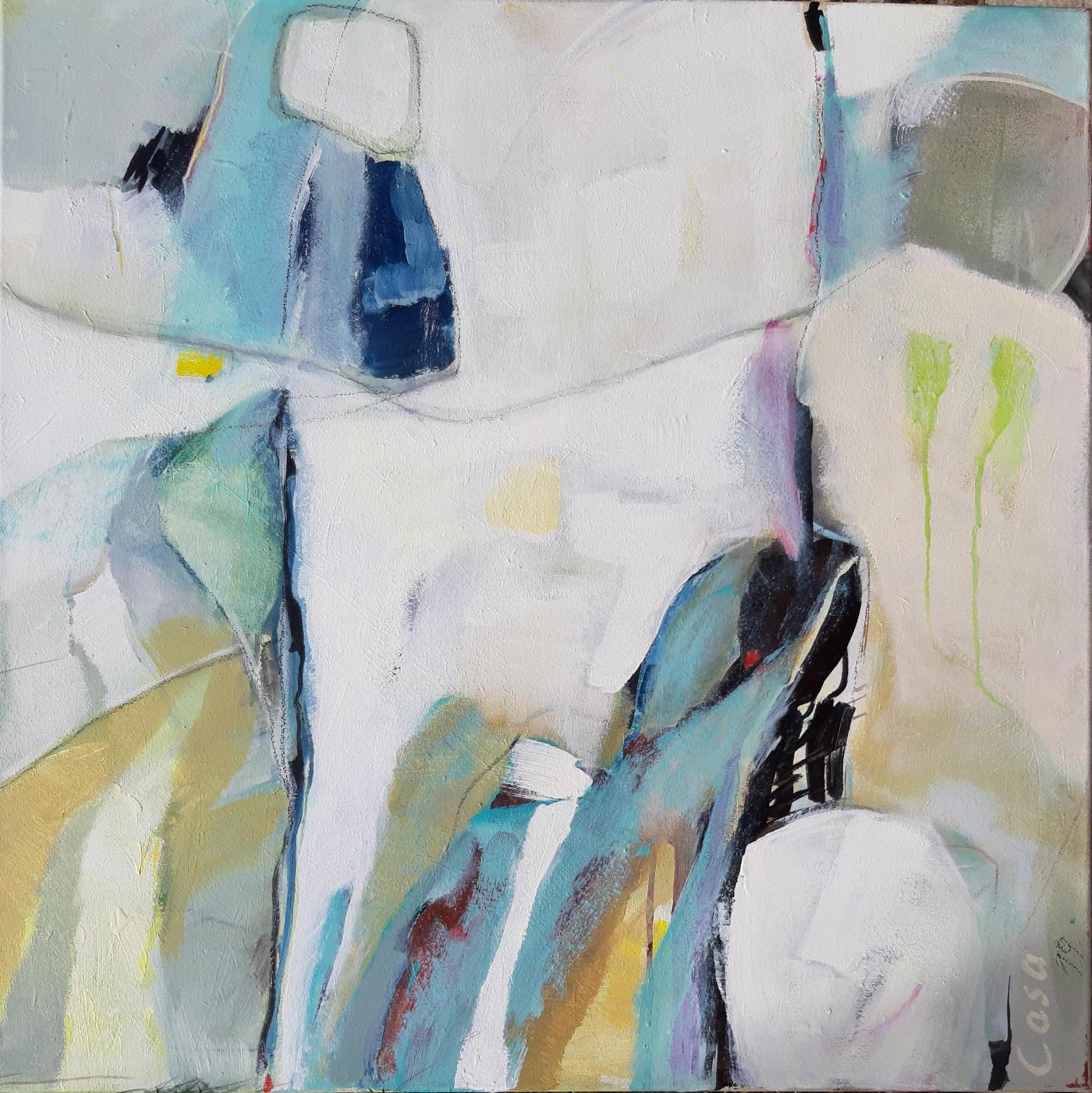 Winter - Acryl auf Leinwand, 80 x 80 cm