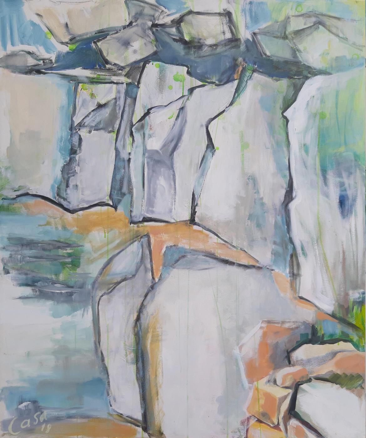 Alb VI - Acryl auf Leinwand, 120 x 100 cm