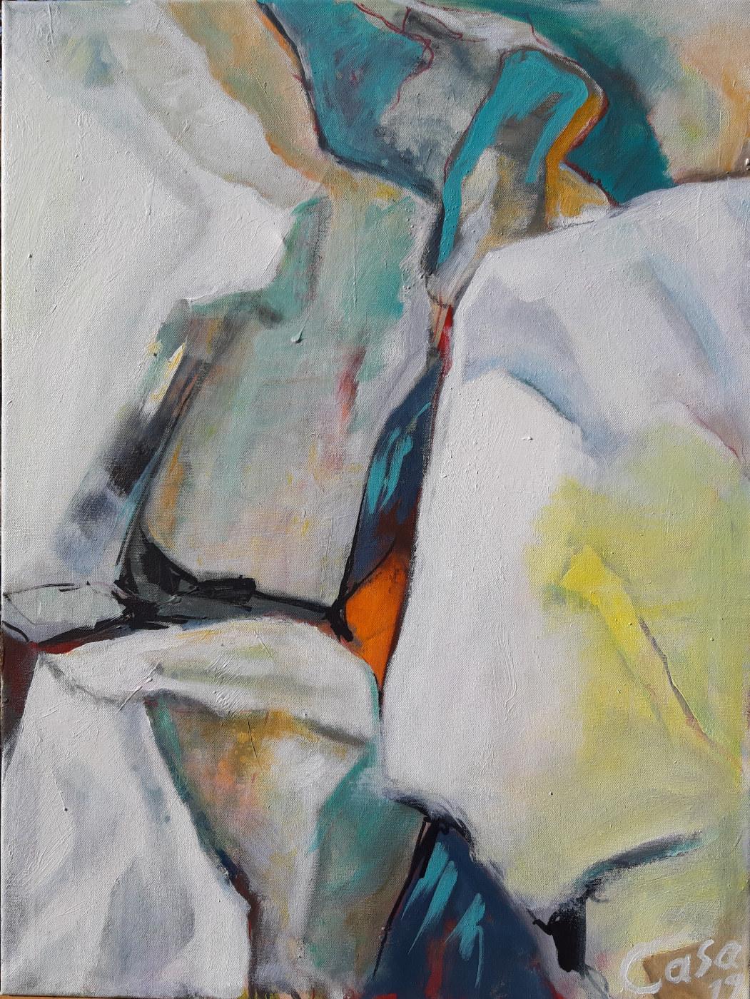 ohne Titel - Acryl auf Leinwand - 80 x 60 cm