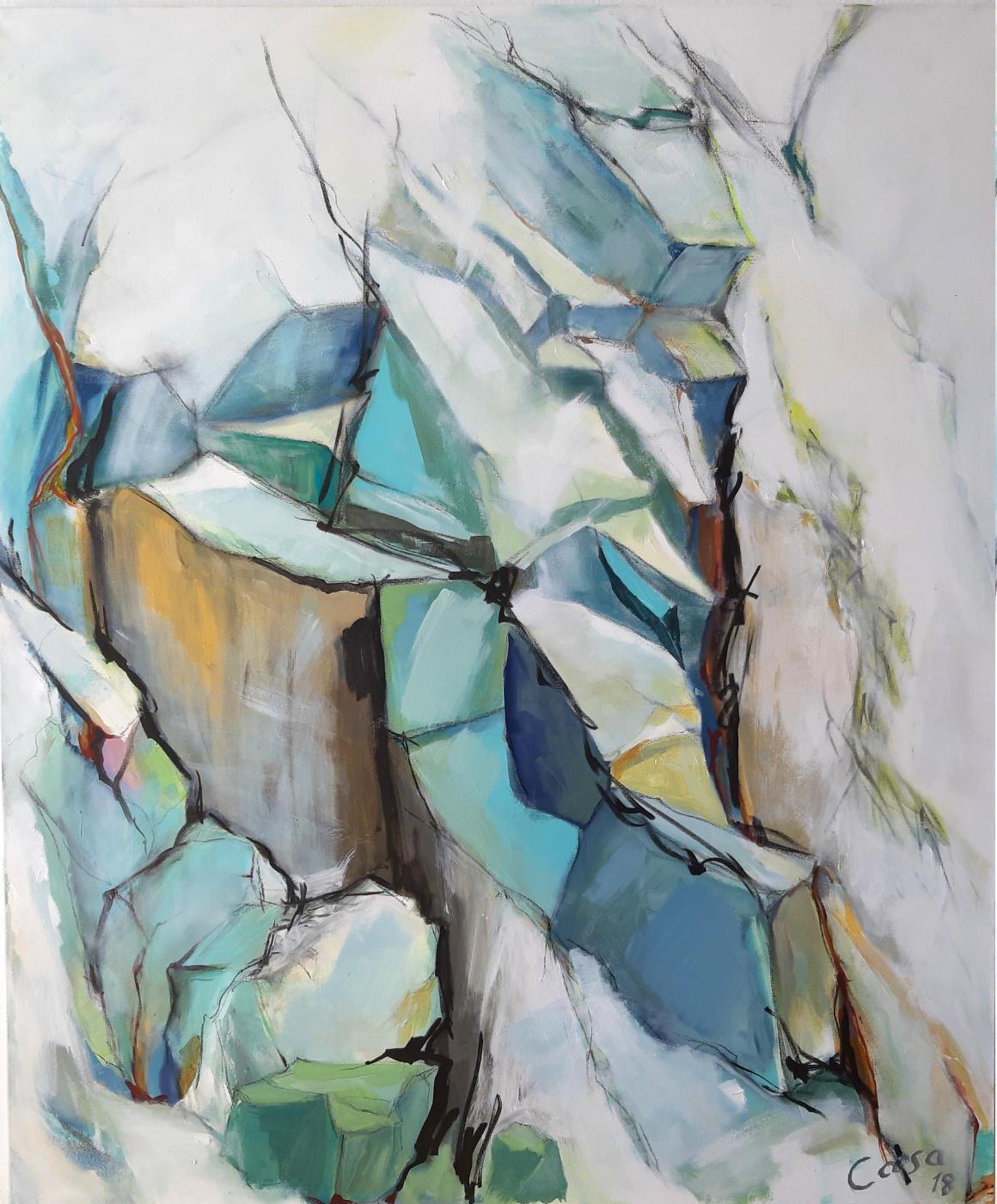 Gotthard - Acryl und Graphit auf Leiwand, 120 x 100 cm