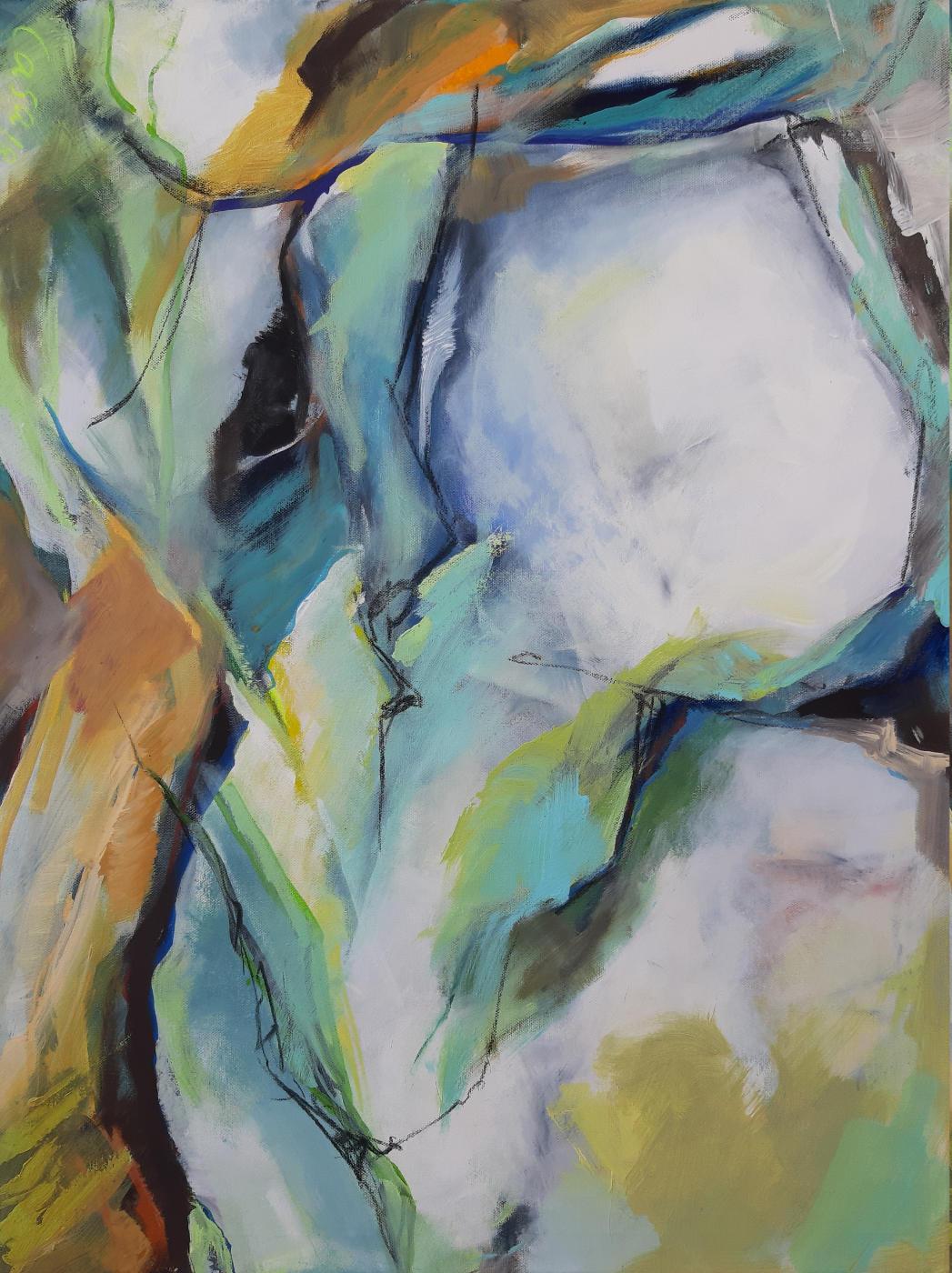 Alb V - Acryl, mixed media auf Leinwand, 80 x 60 cm