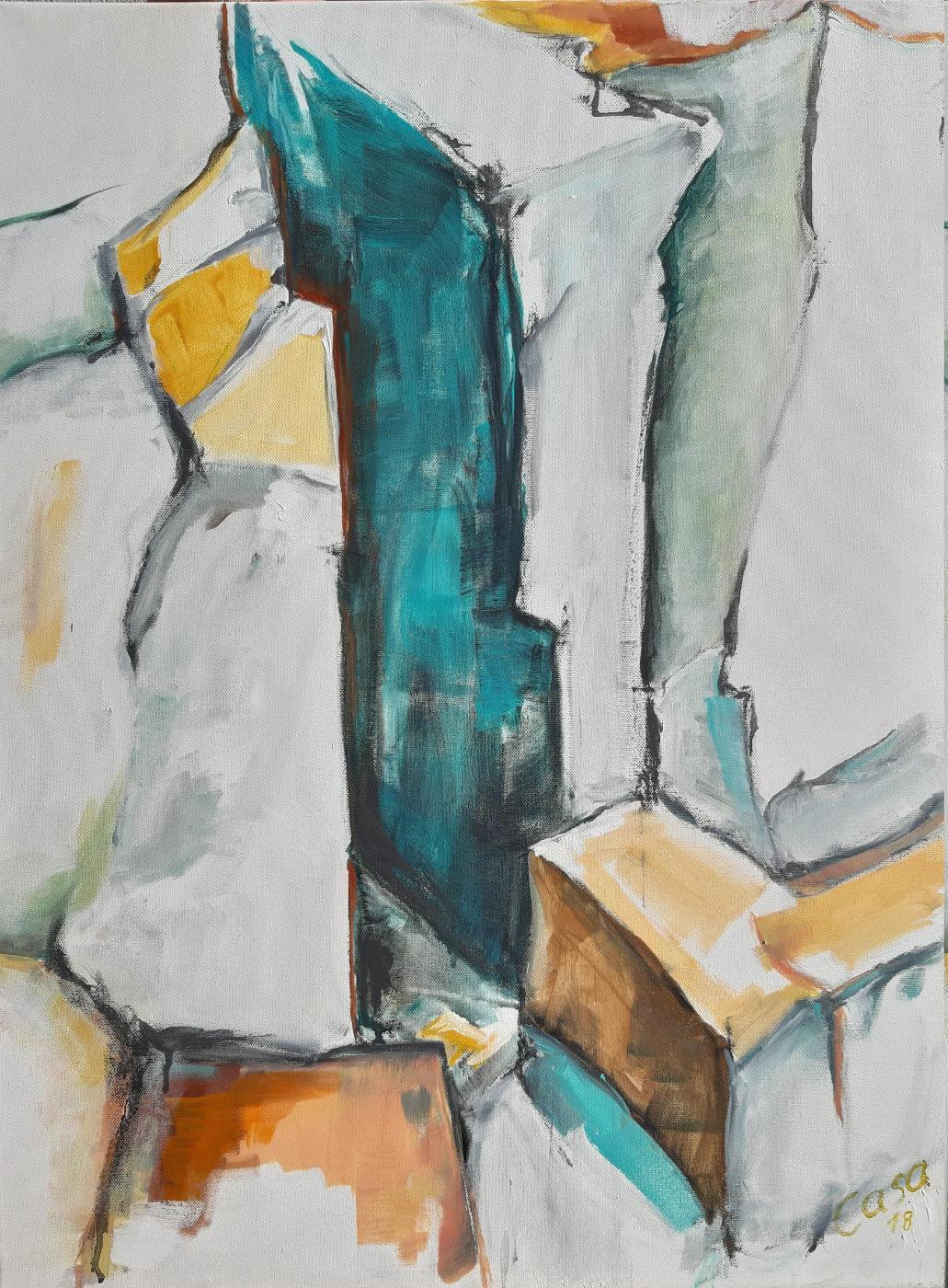 Alb II - Acryl und Graphit auf Leinwand, 80 x 60 cm