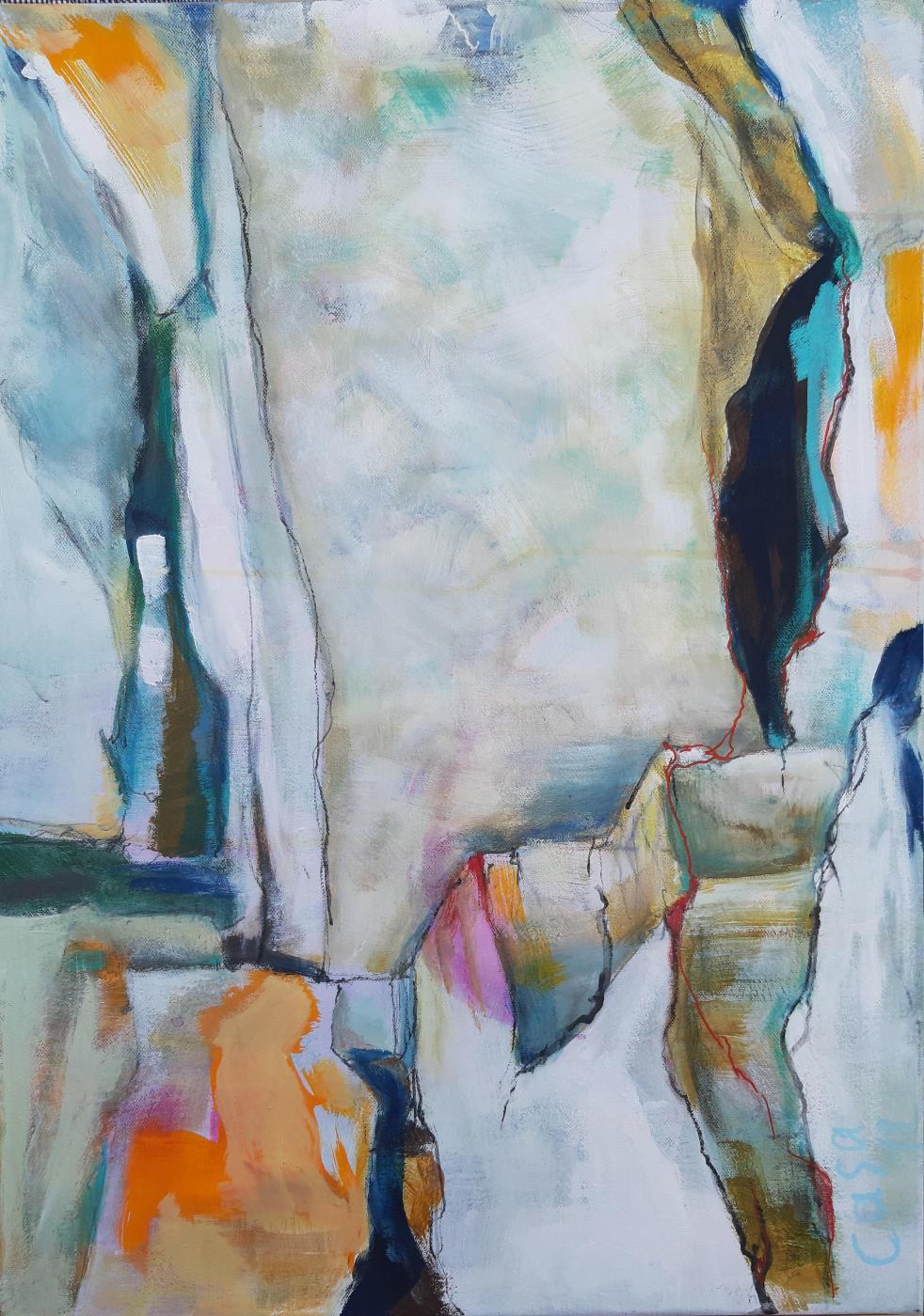 Alb IV - Acryl auf Leinwand, 70 x 50 cm