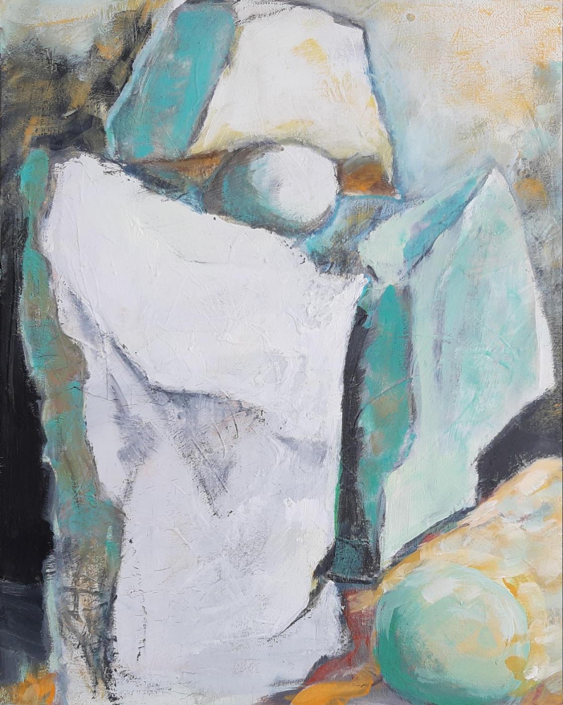 Napoleone petrificato - Acryl auf Leinwand, 50 x 40 cm