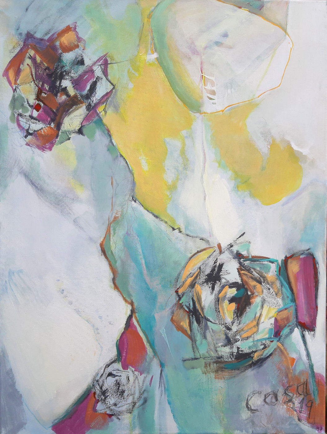Verbindung zum Du - Acryl, mixed media auf Leinwand, 80 x 60 cm