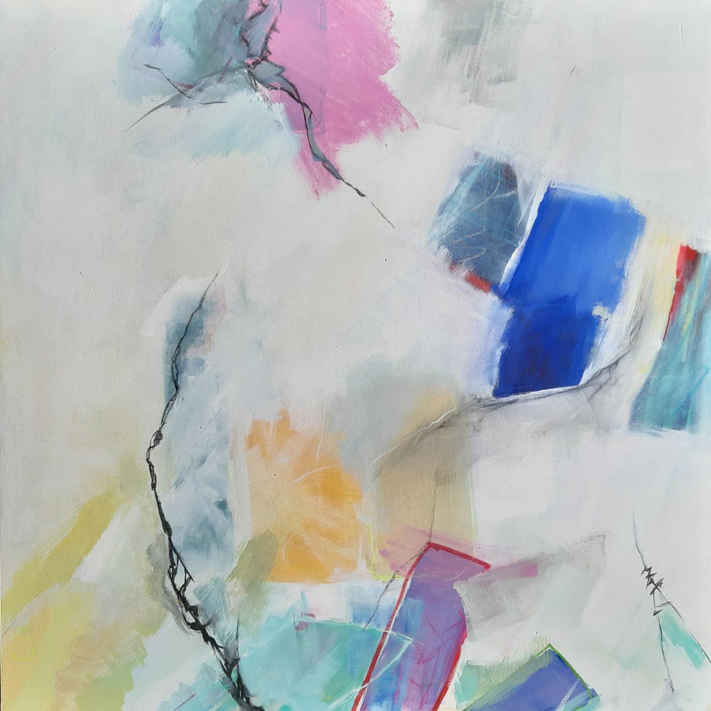 Lichtspiele - Acryl auf Leinwand - 100 x 100 cm