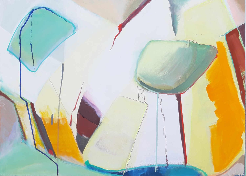 Kontrastprogramm - Acryl und Tusche auf Leinwand, 50 x 70 cm
