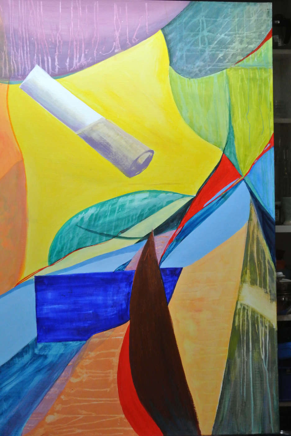 ohne Titel - Acryl auf Leinwand, 150 x 100 cm