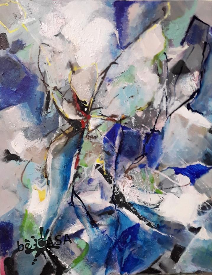 Kristallin - Acryl, mixed media; 50 x 40 cm