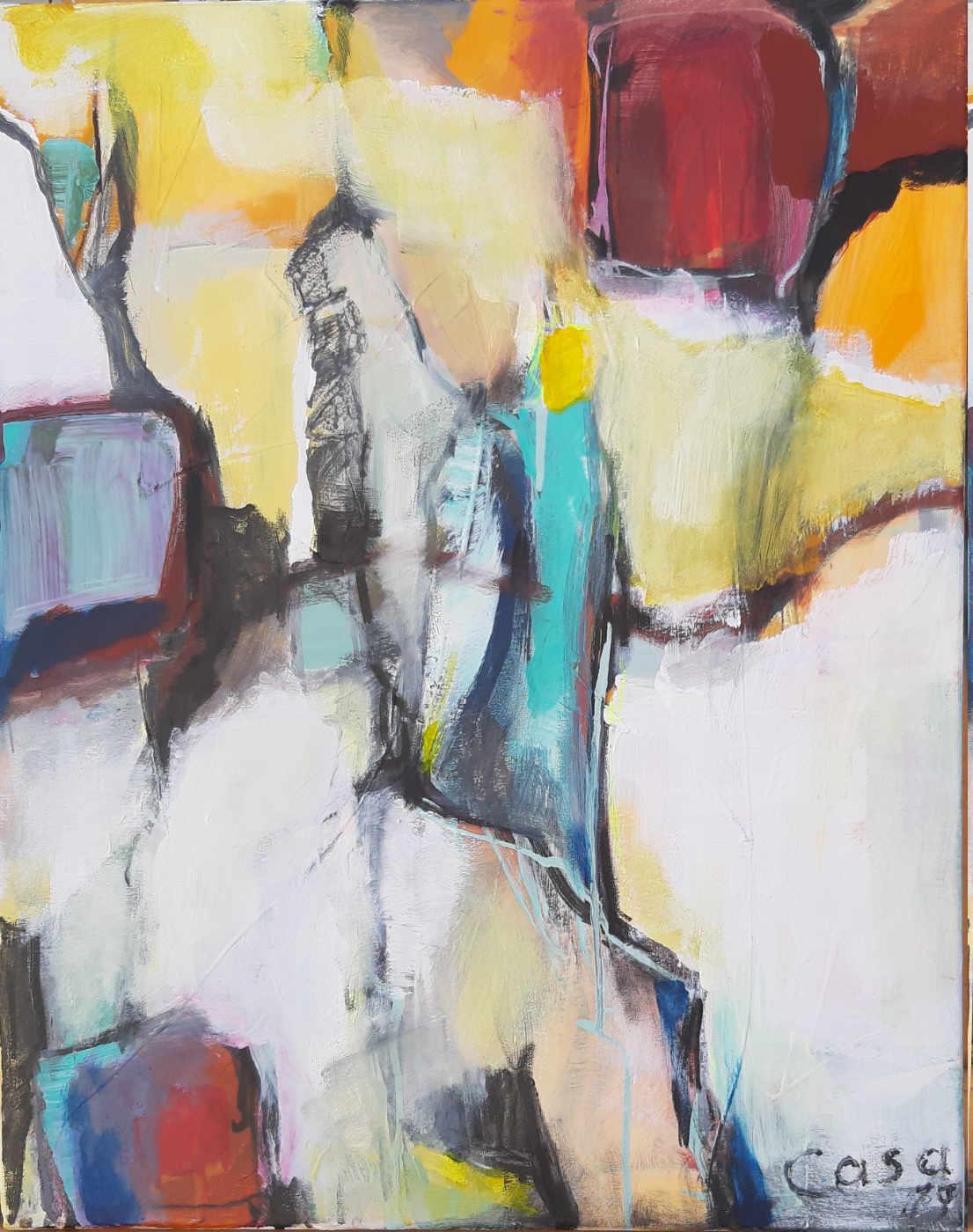 ohne Titel - Acryl auf Leinwand, 50 x 40 cm
