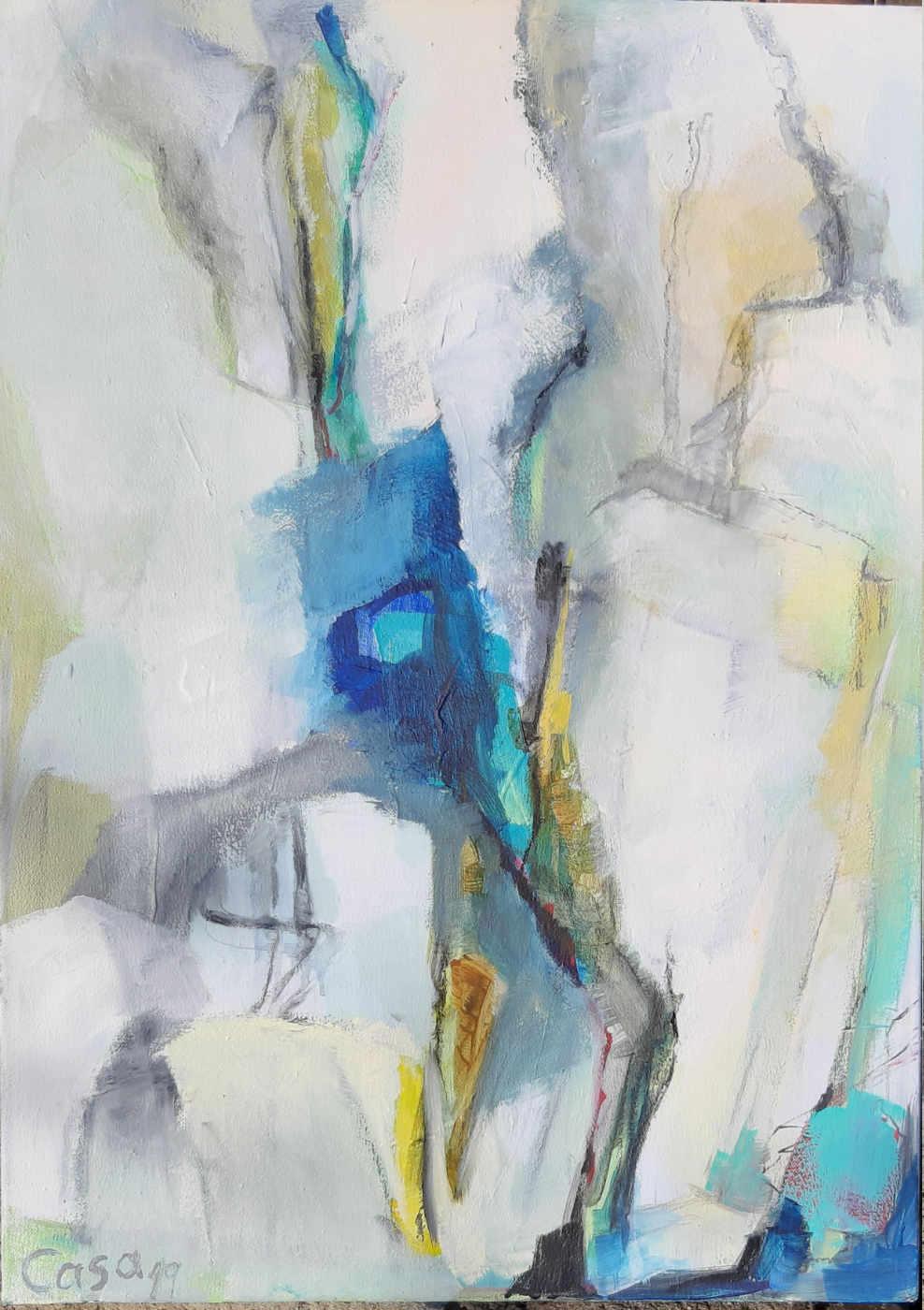 ohne Titel - Acryl auf Leinwand, 70 x 50 cm