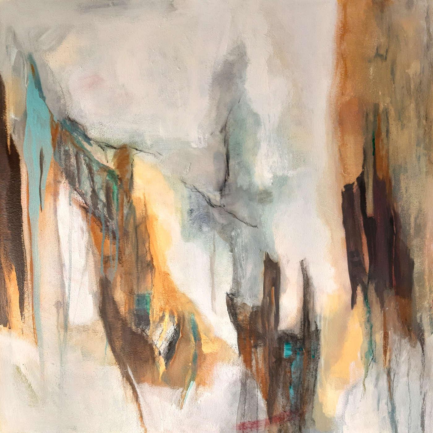 Morsch - Acryl, mixed media auf Leinwand, 80 x 80 cm