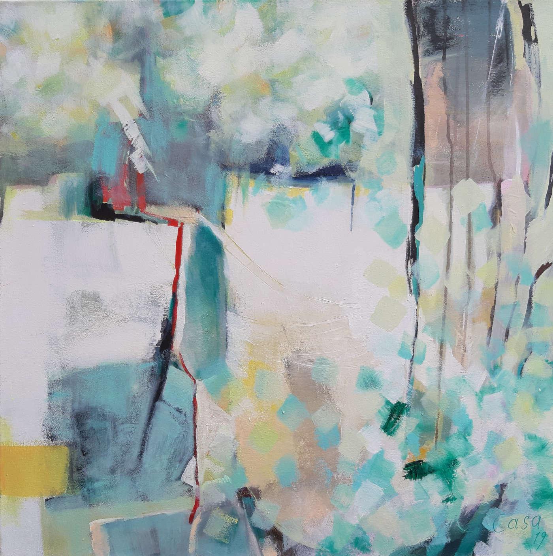 Mein Garten - Acryl auf Leinwand, 80 x 80 cm