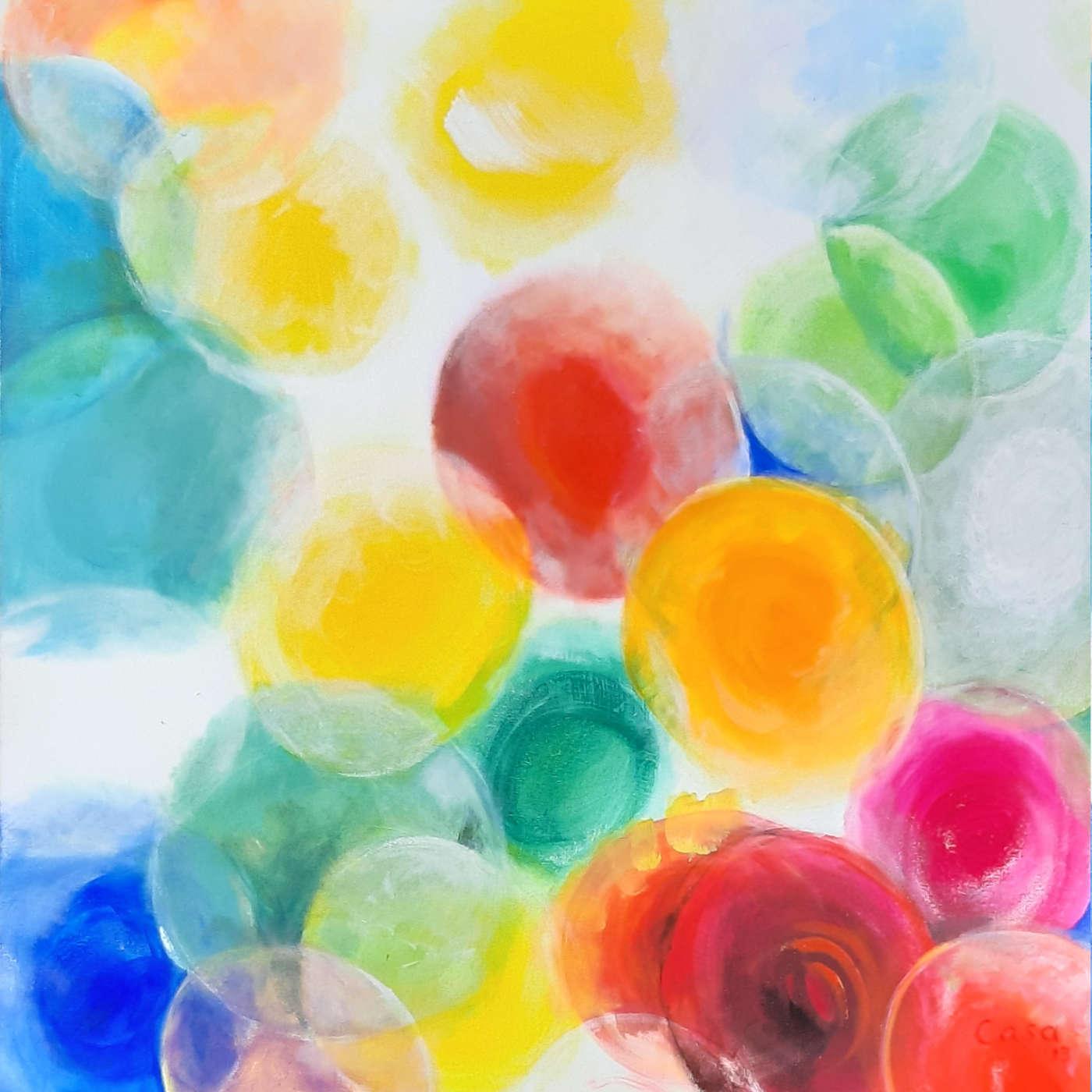 Farben im Licht - Acryl auf Leinwand, 100 x 100 cm