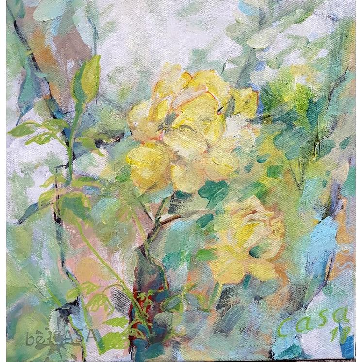 Duftrose - Acryl auf Leinwand - 40 x 40 cm