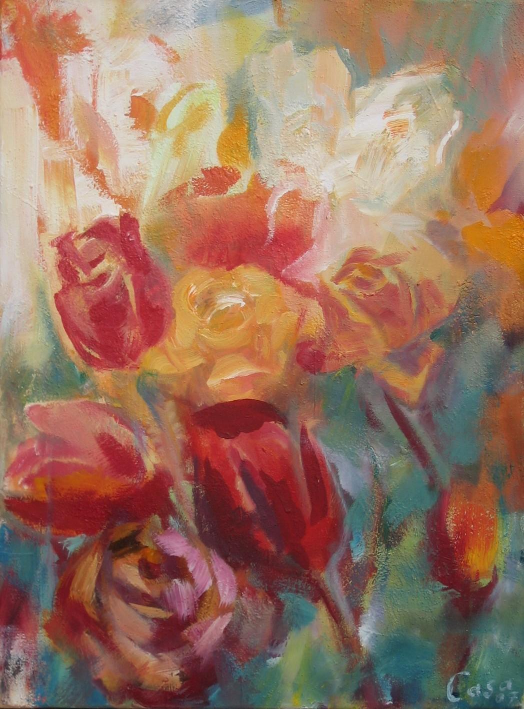 ohne Titel - Acryl auf Leinwand - 70 x 50 cm