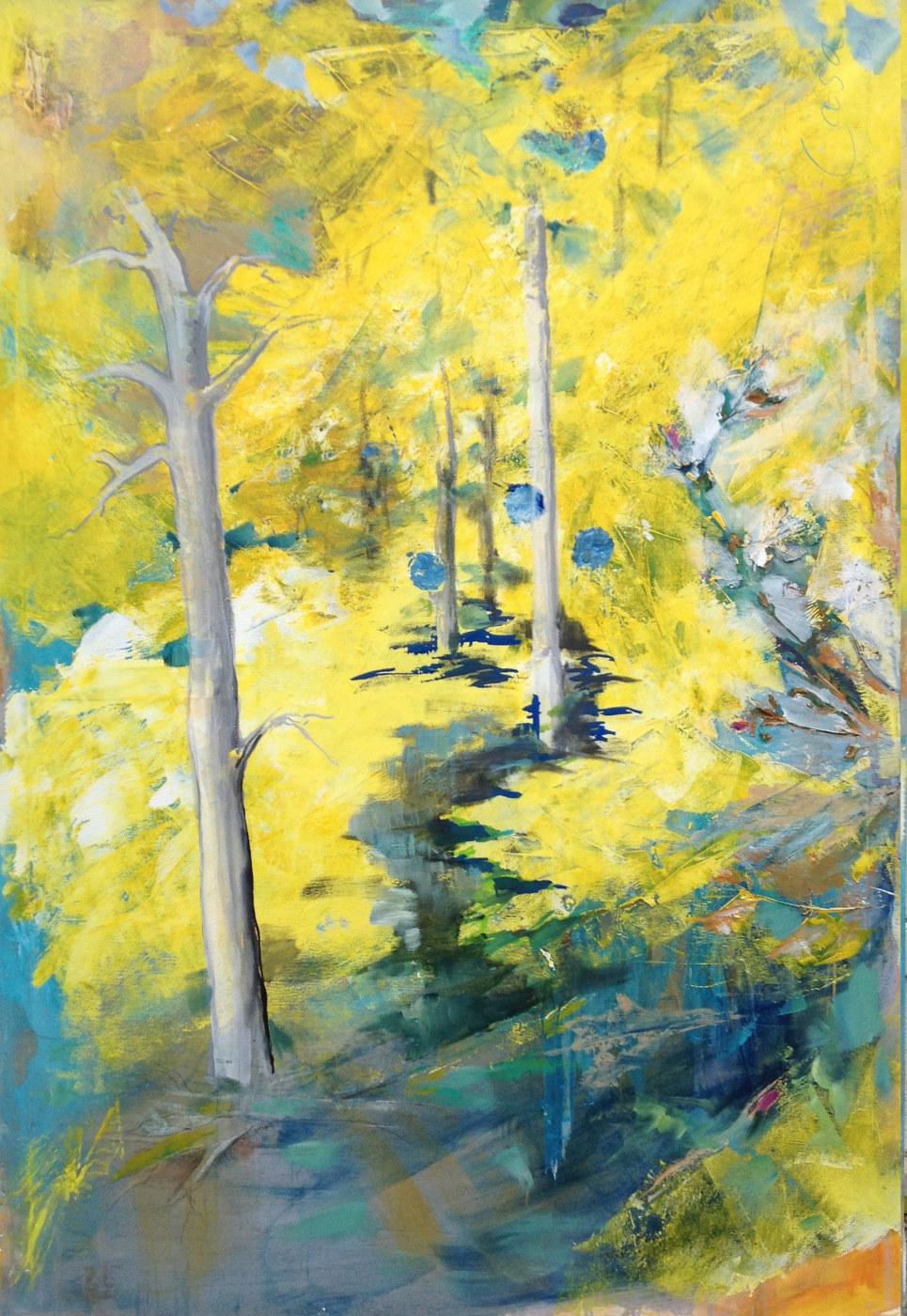 Herbstwald - Acryl auf Leinwand - 150 x 110 cm